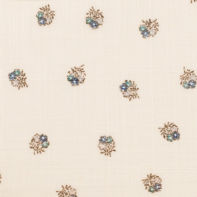 ラミー×フラワー(ブルー&エクリュ)×ボイル_全3色 イメージ1
