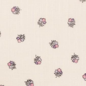 ラミー×フラワー(ピンク&エクリュ)×ボイル_全3色