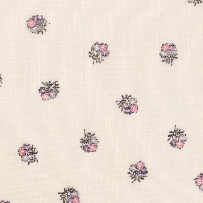 ラミー×フラワー(ピンク&エクリュ)×ボイル_全3色 イメージ1