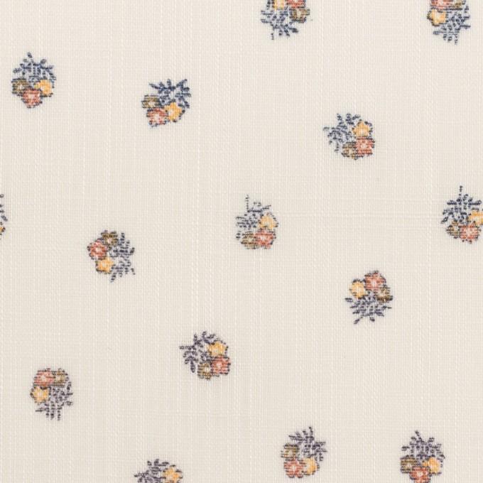 ラミー×フラワー(オレンジ&クリーム)×ボイル_全3色 イメージ1