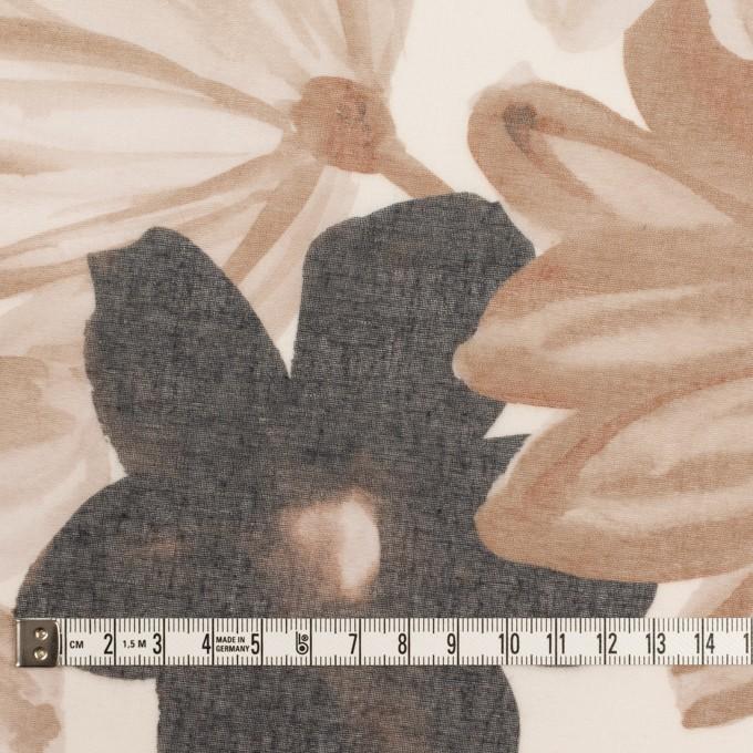 コットン&ポリエステル×フラワー(アッシュブラウン)×ボイル_全2色 イメージ4