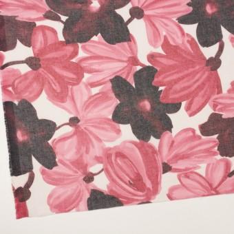 コットン&ポリエステル×フラワー(ピンク)×ボイル_全2色 サムネイル2