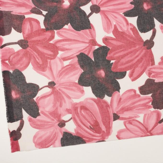コットン&ポリエステル×フラワー(ピンク)×ボイル_全2色 イメージ2