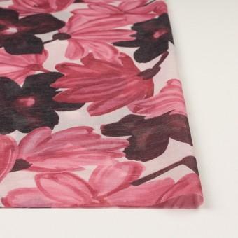 コットン&ポリエステル×フラワー(ピンク)×ボイル_全2色 サムネイル3