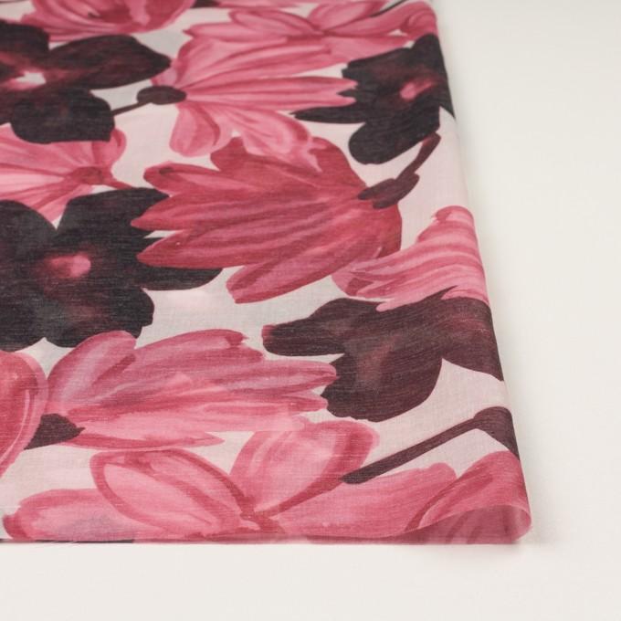 コットン&ポリエステル×フラワー(ピンク)×ボイル_全2色 イメージ3