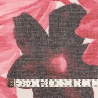 コットン&ポリエステル×フラワー(ピンク)×ボイル_全2色 サムネイル4