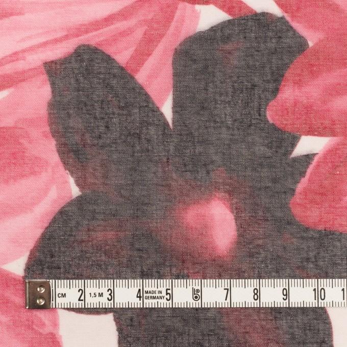 コットン&ポリエステル×フラワー(ピンク)×ボイル_全2色 イメージ4