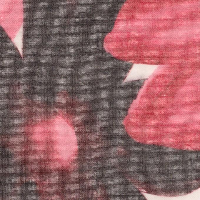 コットン&ポリエステル×フラワー(ピンク)×ボイル_全2色 イメージ1