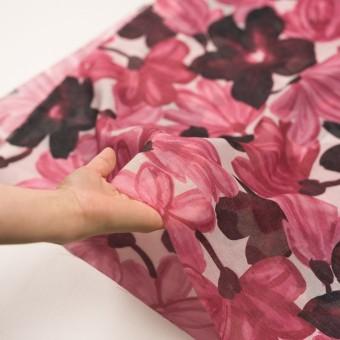 コットン&ポリエステル×フラワー(ピンク)×ボイル_全2色 サムネイル5