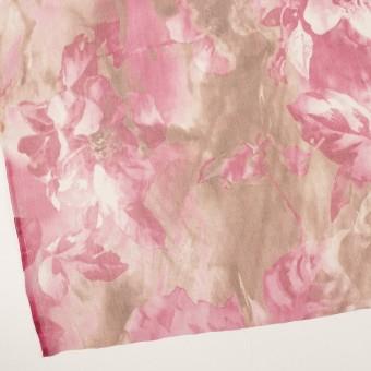シルク×フラワー(ピンク)×クレープジョーゼット サムネイル2