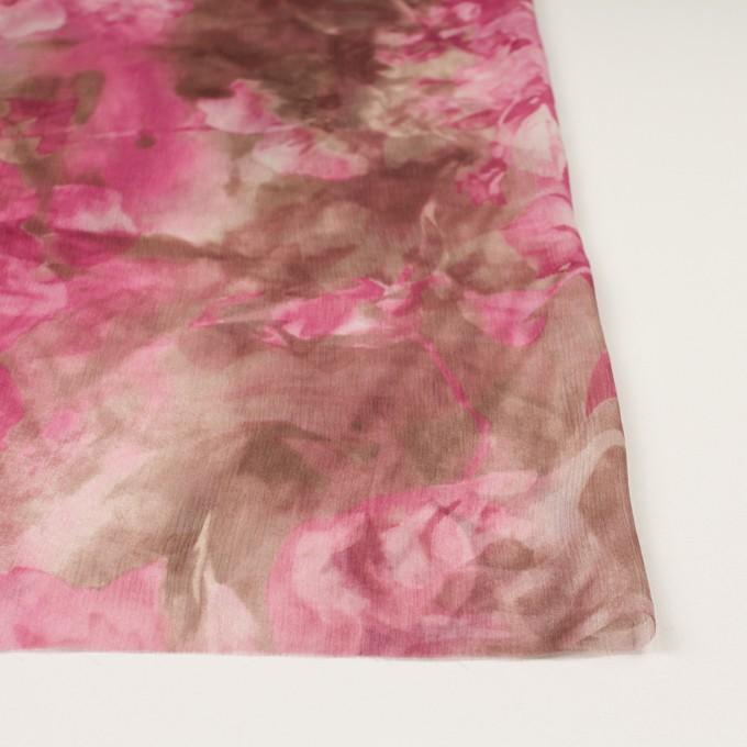 シルク×フラワー(ピンク)×クレープジョーゼット イメージ3