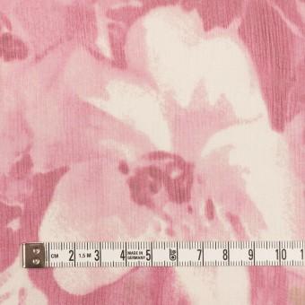 シルク×フラワー(ピンク)×クレープジョーゼット サムネイル4