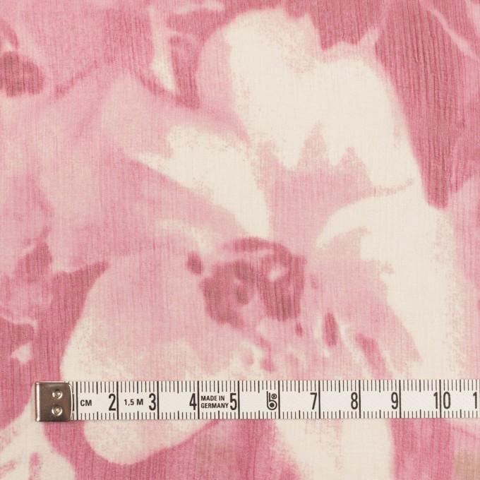 シルク×フラワー(ピンク)×クレープジョーゼット イメージ4