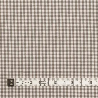コットン&リネン×チェック(オリーブブラウン)×ポプリン サムネイル4