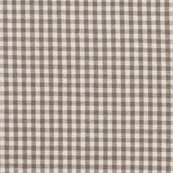コットン&リネン×チェック(オリーブブラウン)×ポプリン サムネイル1