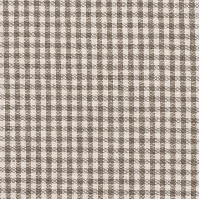 コットン&リネン×チェック(オリーブブラウン)×ポプリン イメージ1