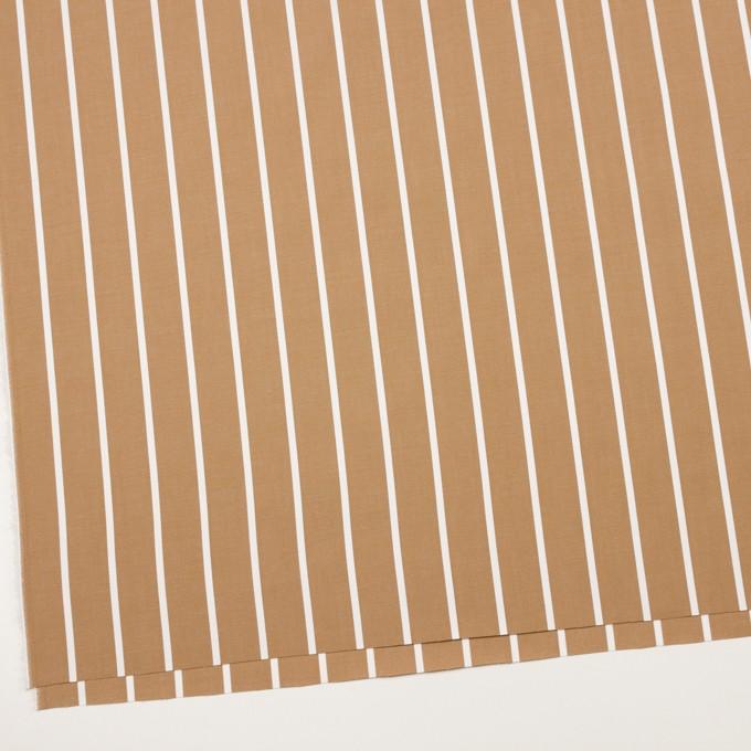 コットン×ストライプ(カフェオレ)×ブロードジャガード イメージ2