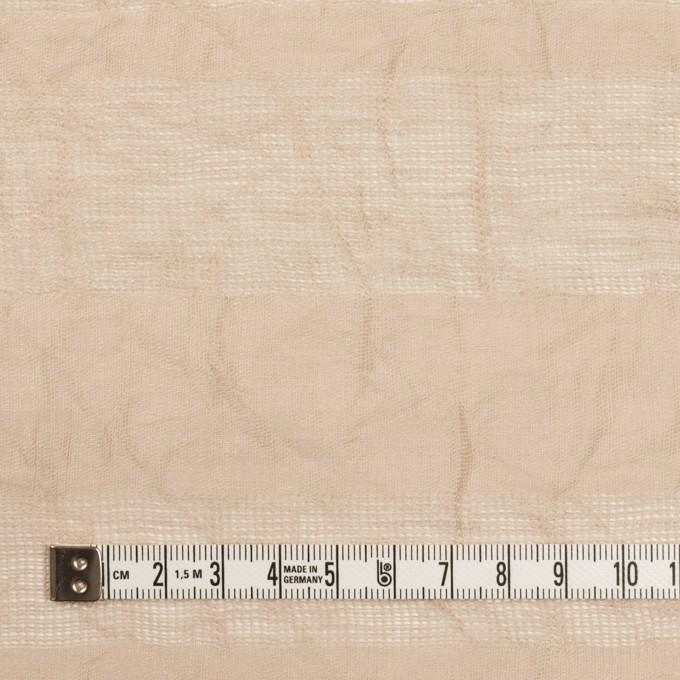 コットン&リネン×ボーダー(ベージュ)×からみ織ワッシャー イメージ4