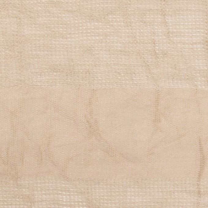 コットン&リネン×ボーダー(ベージュ)×からみ織ワッシャー イメージ1