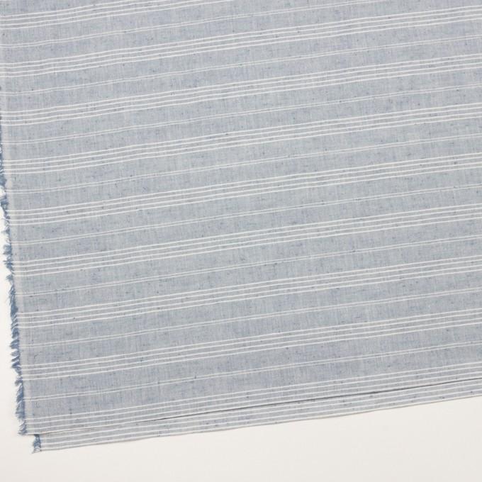 コットン×ボーダー(サックスグレー)×シーチング イメージ2