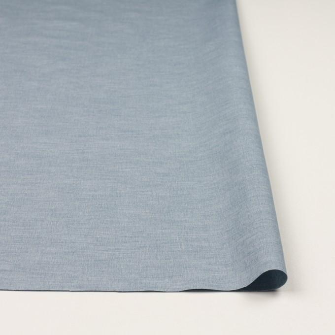 コットン&ナイロン混×無地(サックスグレー)×ポプリンストレッチ_全2色 イメージ3