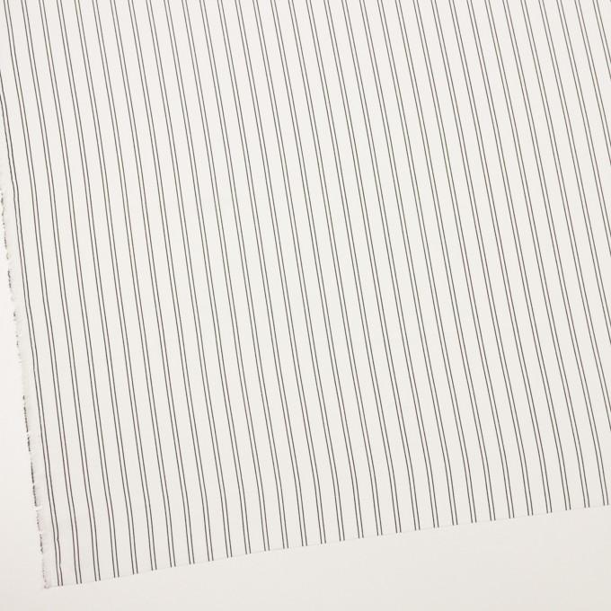 ポリエステル×ストライプ(ミルク&ブラック)×バックサテン・ジョーゼット_全3色 イメージ2