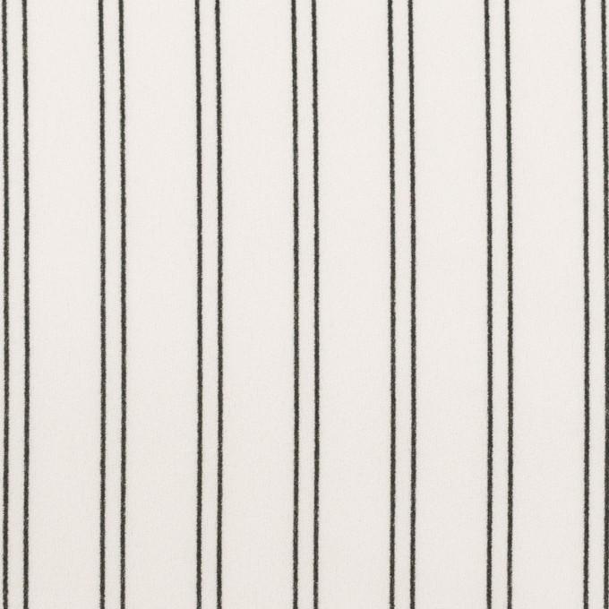 ポリエステル×ストライプ(ミルク&ブラック)×バックサテン・ジョーゼット_全3色 イメージ1