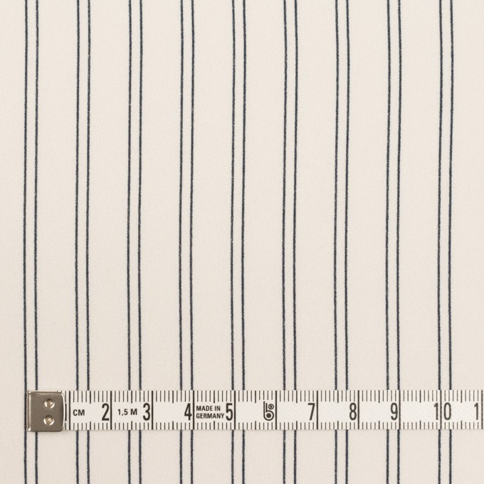 ポリエステル×ストライプ(エクリュ&ダークネイビー)×バックサテン・ジョーゼット_全3色 イメージ4
