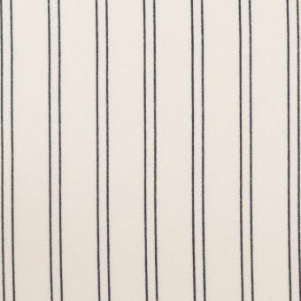 ポリエステル×ストライプ(エクリュ&ダークネイビー)×バックサテン・ジョーゼット_全3色 サムネイル1