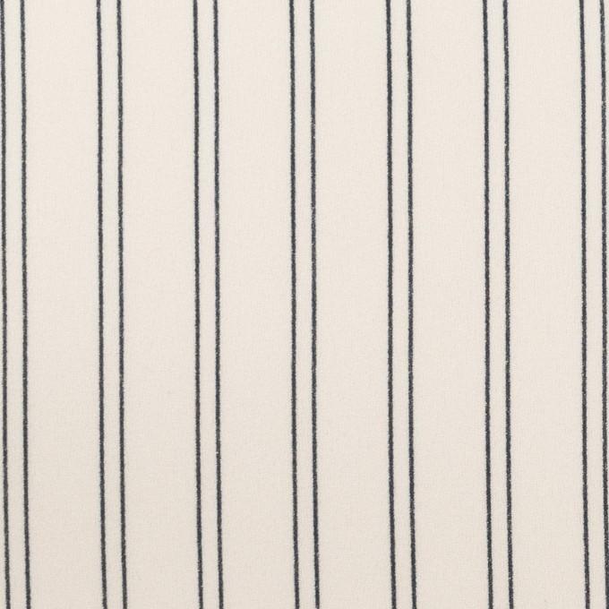 ポリエステル×ストライプ(エクリュ&ダークネイビー)×バックサテン・ジョーゼット_全3色 イメージ1
