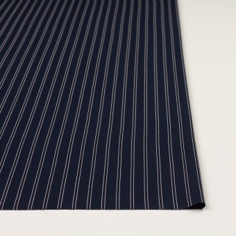 ポリエステル×ストライプ(ダークネイビー&エクリュ)×バックサテン・ジョーゼット_全3色 サムネイル3