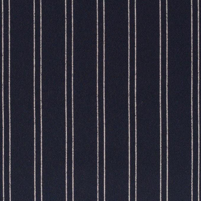 ポリエステル×ストライプ(ダークネイビー&エクリュ)×バックサテン・ジョーゼット_全3色 イメージ1