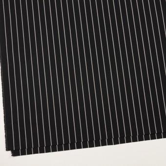 コットン×ストライプ(ブラック&グレー)×タイプライター(高密ローン) サムネイル2