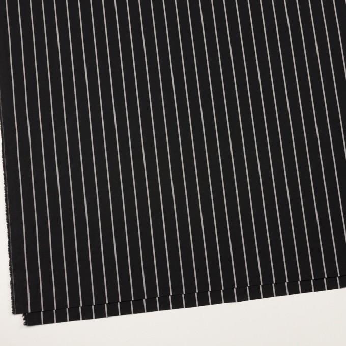コットン×ストライプ(ブラック&グレー)×タイプライター(高密ローン) イメージ2