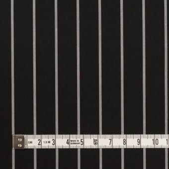 コットン×ストライプ(ブラック&グレー)×タイプライター(高密ローン) サムネイル4