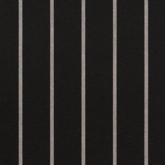 コットン×ストライプ(ブラック&グレー)×タイプライター(高密ローン)