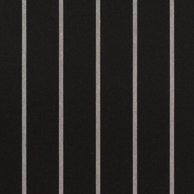 コットン×ストライプ(ブラック&グレー)×タイプライター(高密ローン) イメージ1