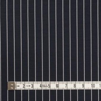 コットン&キュプラ×ストライプ(ダークネイビー)×ローンジャガード サムネイル4