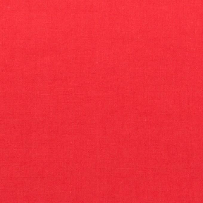 コットン×無地(レッド)×タイプライター(高密ローン)・ワッシャー イメージ1