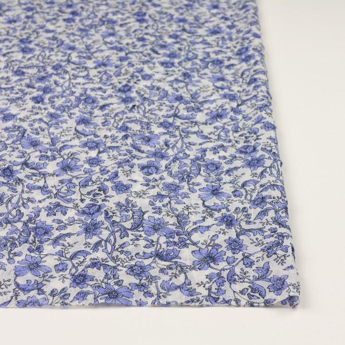 ポリエステル×フラワー(バイオレット)×ジョーゼット刺繍 イメージ3