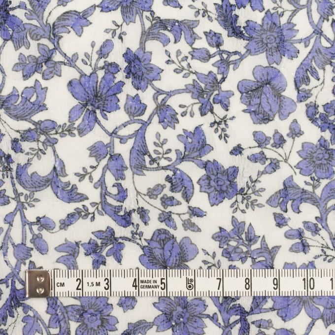 ポリエステル×フラワー(バイオレット)×ジョーゼット刺繍 イメージ4
