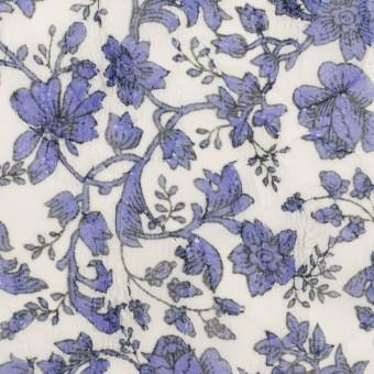ポリエステル×フラワー(バイオレット)×ジョーゼット刺繍 サムネイル1