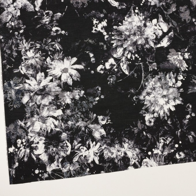 コットン×フラワー(ブラック)×ローン_全2色 イメージ2
