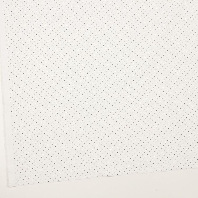 コットン×ドット(オフホワイト&ブラック)×タイプライター(高密ローン)・ワッシャー_全5色 イメージ2