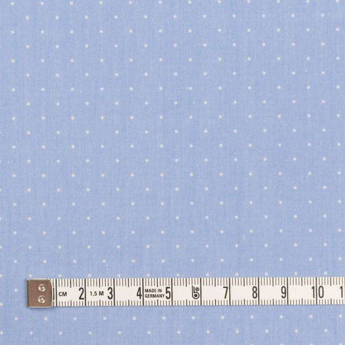 コットン×ドット(サックス&クリーム)×タイプライター(高密ローン)・ワッシャー_全5色 イメージ4