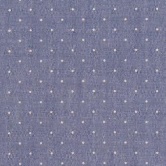 コットン×ドット(アッシュネイビー&エクリュ)×タイプライター(高密ローン)・ワッシャー_全5色
