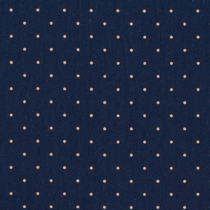 コットン×ドット(ネイビー&ベージュ)×タイプライター(高密ローン)・ワッシャー_全5色 イメージ1