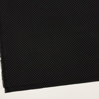 コットン×ドット(ブラック&オフホワイト)×タイプライター(高密ローン)・ワッシャー_全5色 サムネイル2