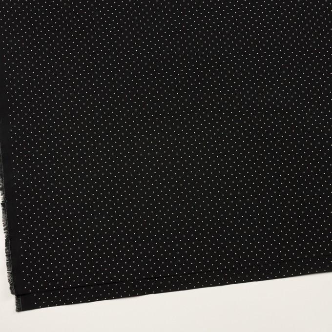 コットン×ドット(ブラック&オフホワイト)×タイプライター(高密ローン)・ワッシャー_全5色 イメージ2