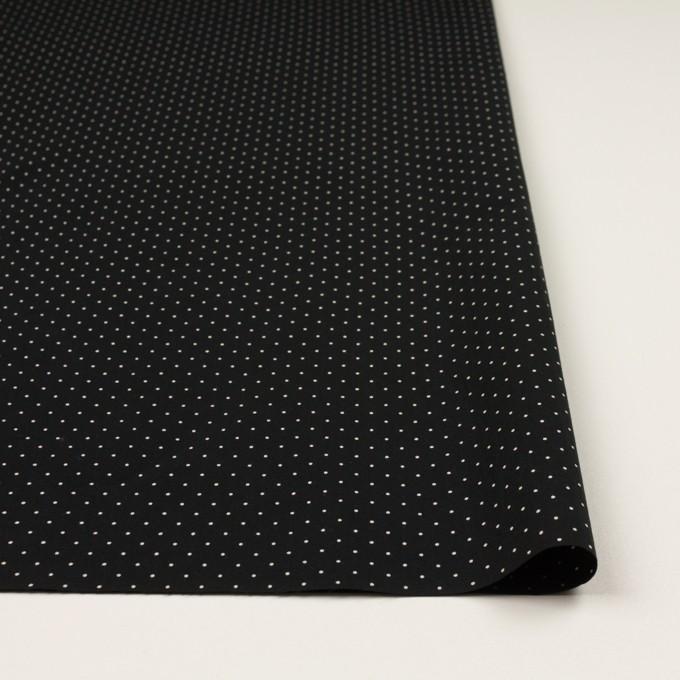 コットン×ドット(ブラック&オフホワイト)×タイプライター(高密ローン)・ワッシャー_全5色 イメージ3